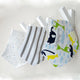 Lot Baby Bibs Infant  Scarf Triangular Double Layers Towel Cartoon Patters Dribble Bibs