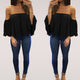Ladies Lace Off-shoulder Casual Tops T Shirt