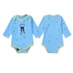 Newly Baby Bodysuits Newborn Jumpsuits Breathable Cotton Solid Color Cartoon Long Sleeve Autumn Clothes