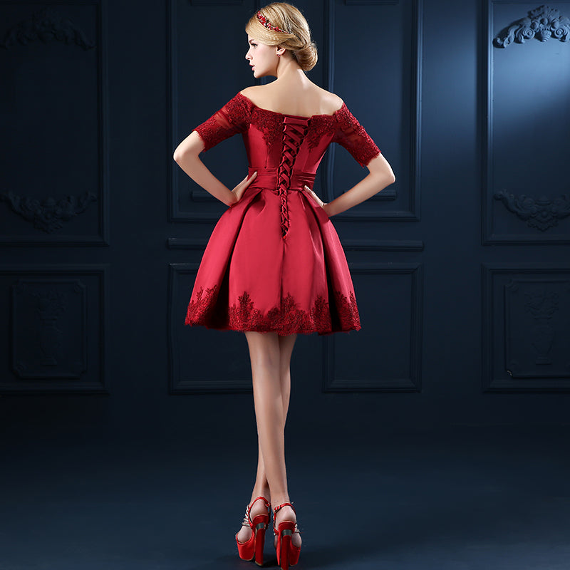 3091add05 Short Sleeve Ball Gown Embroidery Lace Special Occasion Women Evening Party  Dress