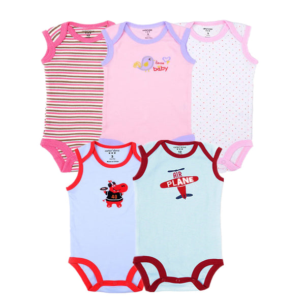 Baby Girls Bodysuit 100% Cotton Infant Body Sleeveless Climbing Clothing