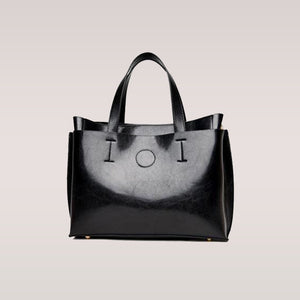 9f893b4e00c ... New Famous Brand Logo Handbags for Women with Fashionable Black Leather