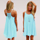 fluorescence summer beach  dress chiffon voile