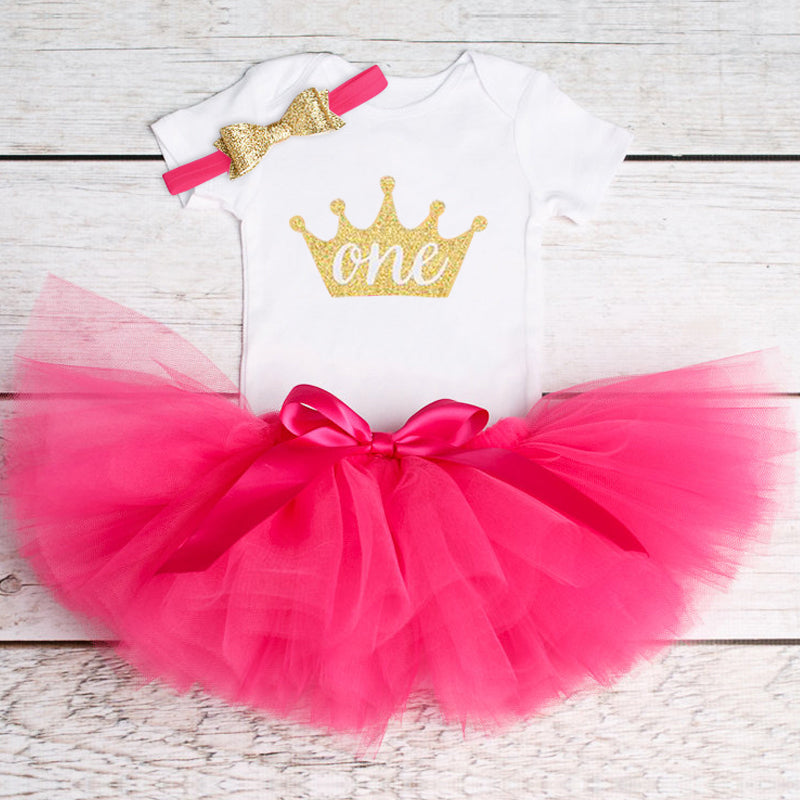 be575c124a066 Newborn Infant Baby Girls Dress1 Year First Birthday Outfits – Style ...