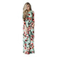 Floral Draped 3/4 Sleeve Maternity Maxi Dress
