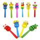 Colorful  Newborn Wooden Rattles Cartoon Baby Handbell