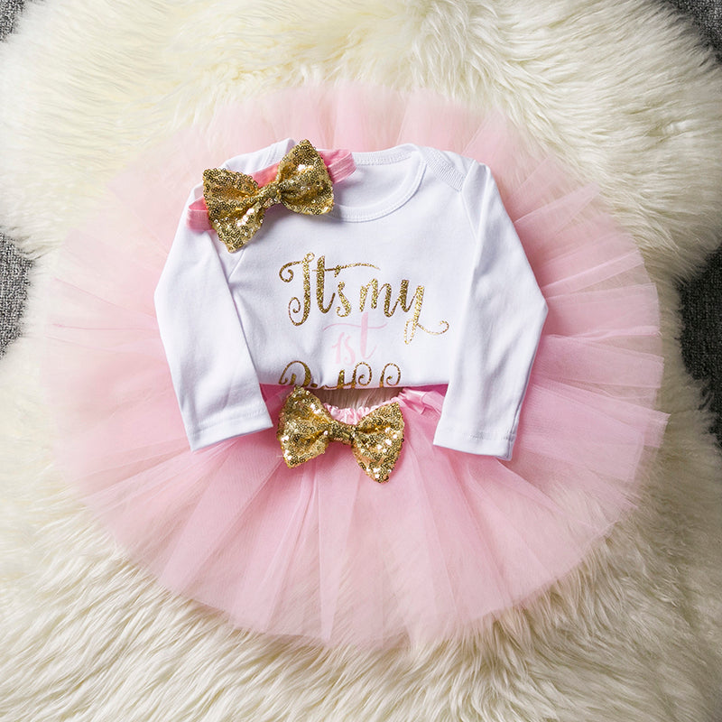 Cotton Baby Girls Clothes Birthday Party Dresses For Girl With