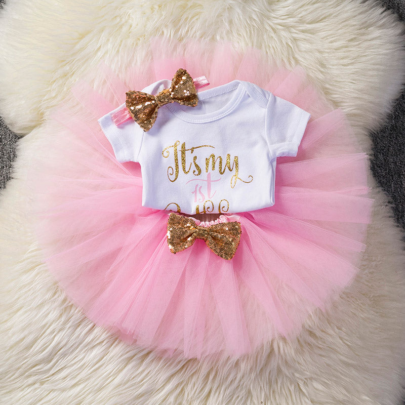 Cotton Baby Girls Clothes Birthday Party Dresses For Girl with ...