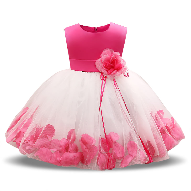 1e757743c670 Fairy Petals Baby Girls Flower Wedding Dress for Newborn Baby Girl ...