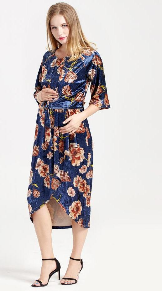 12bbb516f30 NEW WINTER FLORAL NURSING MATERNITY DRESSES (FREE SHIPPING) – Style ...
