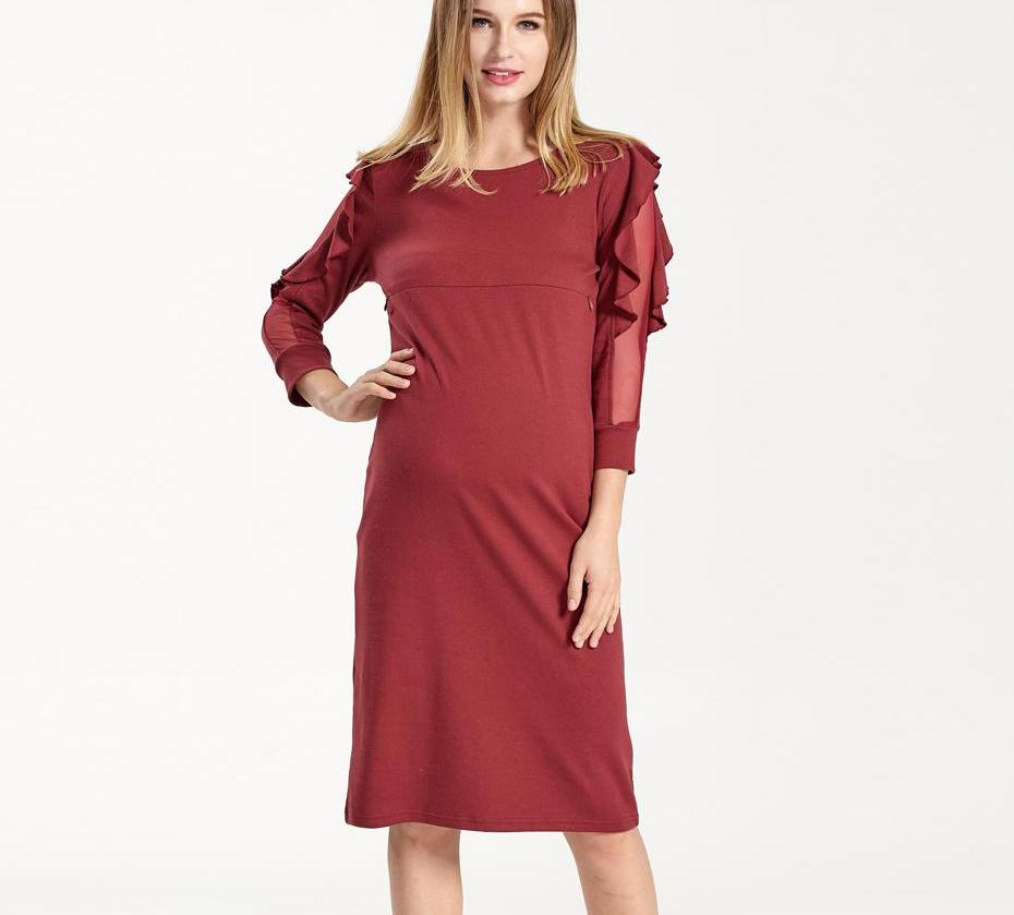 4b69853c9af Maternity Clothes Nursing Special Lace Sleeve Clothing Breastfeeding Dresses  for Pregnant Women