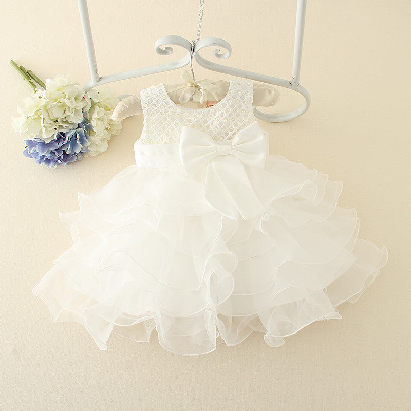 Lace flowered wedding dress for 1 year baby girl – Style Guide