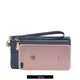 Hot Selling Design PU Leather Women's Long Wallet High Capacity Double Zippers Clutch