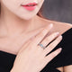 Flowers Finger Alloy Rings For Women Crystal Middle Ring Fashion Jewelry