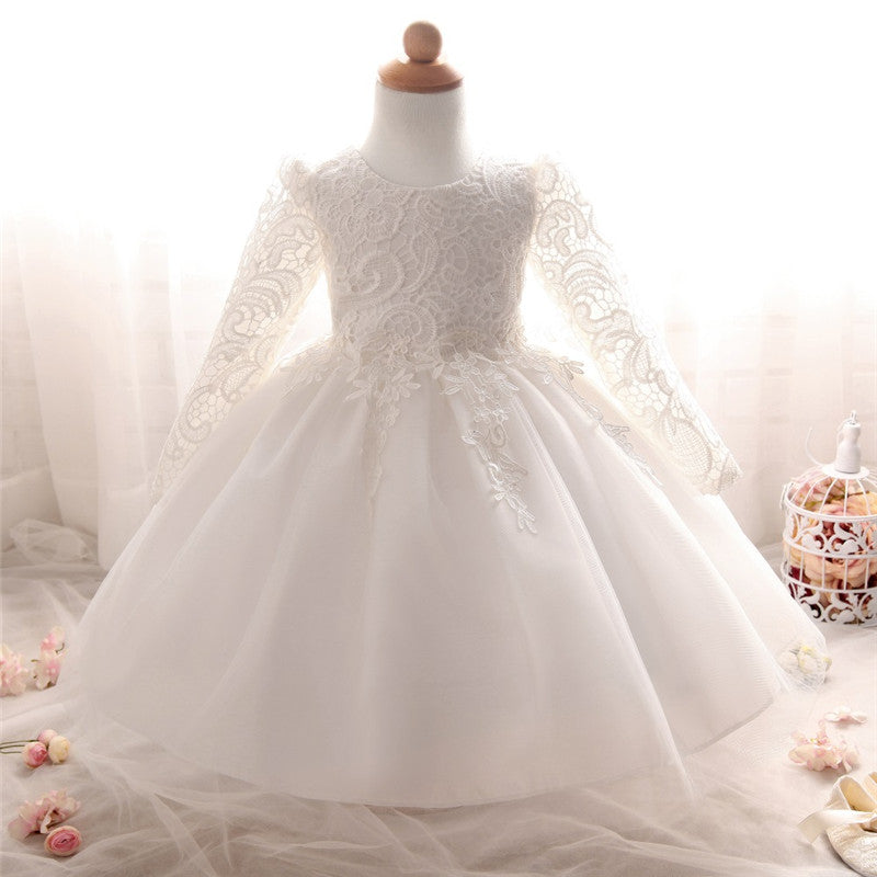3c4f12bb1 Lace Princess Girl Christening Dress for Toddler Baby Girl Party Dress