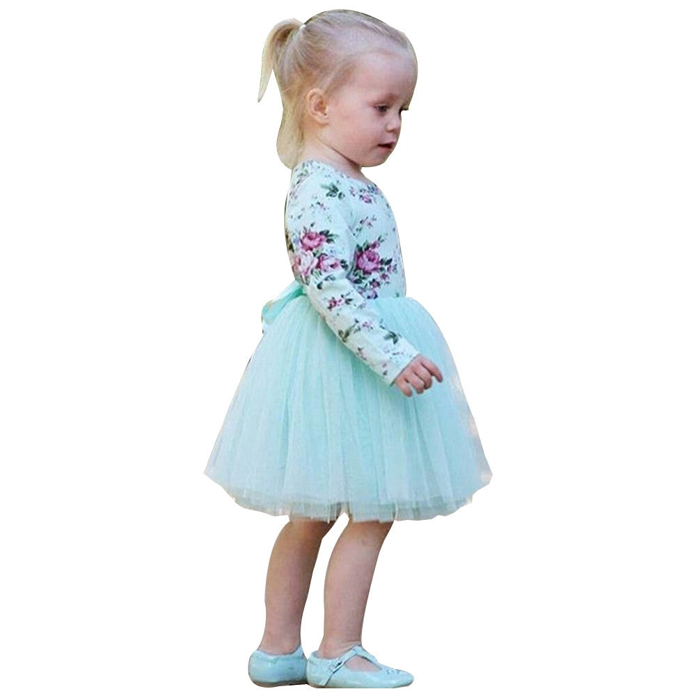 Newborn Infant Baby Girl Clothes Floral New Spring Long Sleeve Dress ...