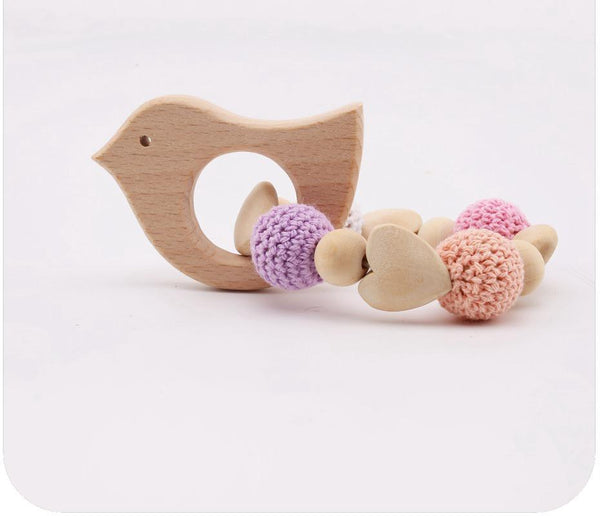 Home Baby Wooden Toys Fox Hedgehog Elephant