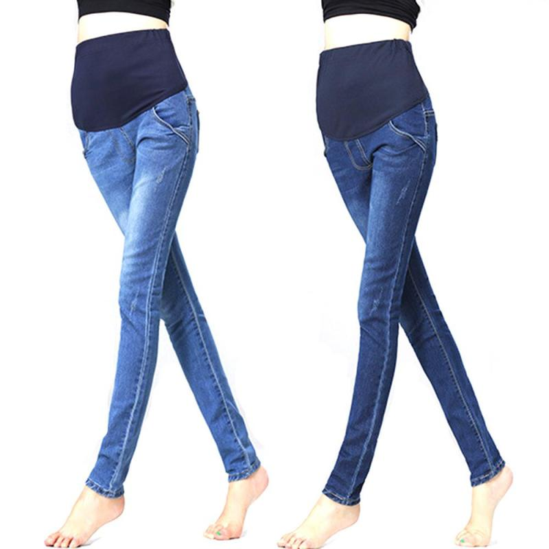 0620595a047c4 Maternity Clothes Jeans Woman Elastic Waist Denim Maternity Jeans Pants  Trousers Clothes For Pregnant Women Pregnancy