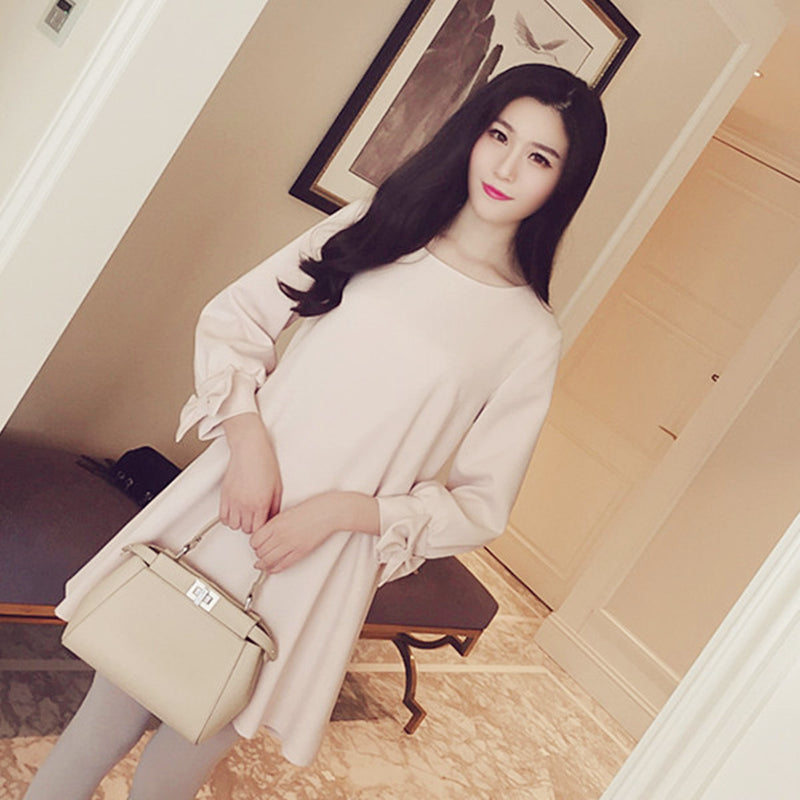 9e221663297 Maternity Dress Autumn winter Fashion Long Sleeve Clothes for Pregnant Women