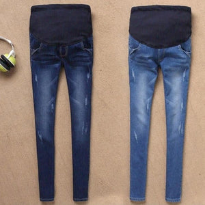 b2676a96b2 ... Maternity Jeans For Pregnant Women Pregnancy Winter Warm Jeans Pants Maternity  Clothes For Pregnant Women Nursing