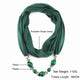 Long Necklaces Beads Pendant Scarf Neckerchief Pendant Necklace For Women
