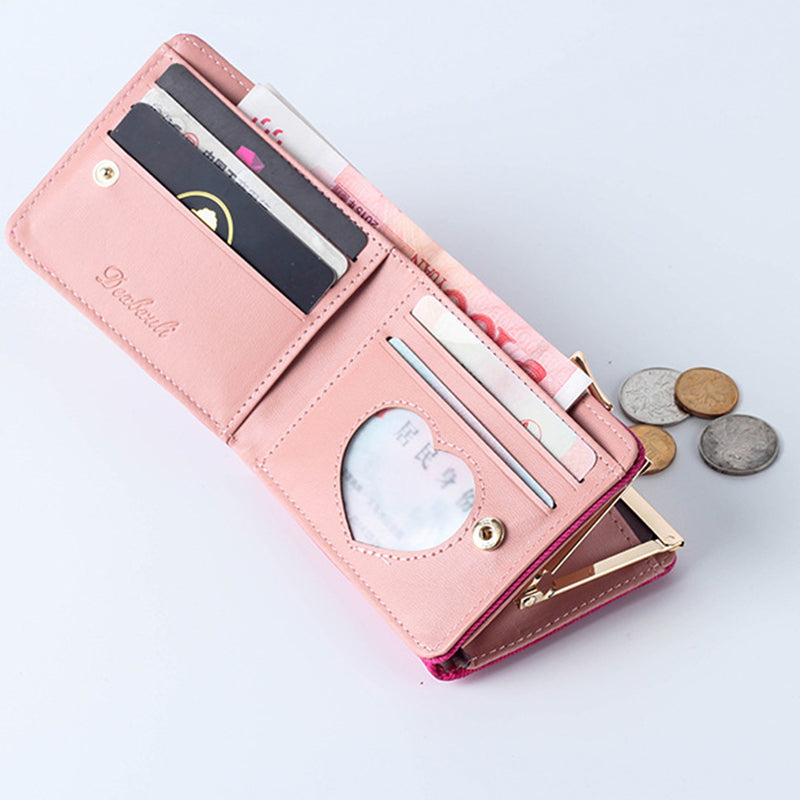 663cbbe905c4 New Wallet Small Hasp Coin Purse For Women Luxury Leather Female Wallets