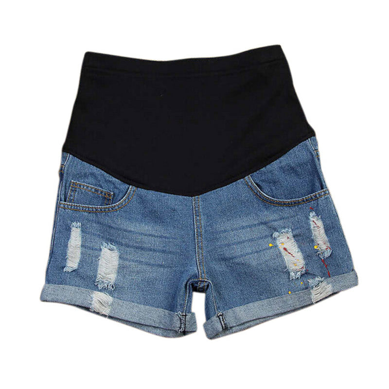 Plus Size Maternity Clothing Summer Pants Fashion Shorts Belly Basic Jeans  Woman Pregnant Women Pregnancy Clothes