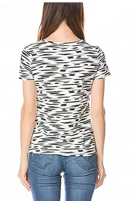 Plus Size Nursing Clothing Maternity Patchwork Nursing Tees