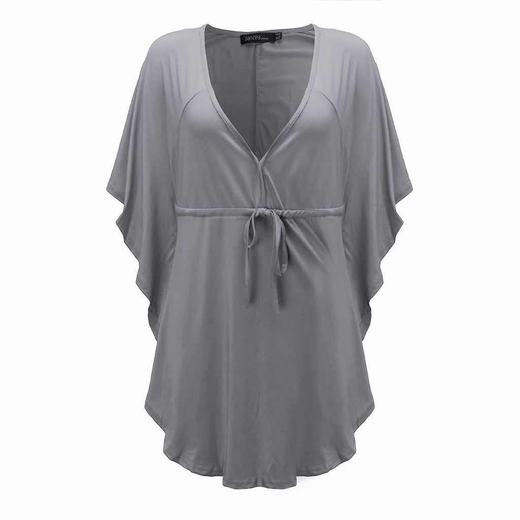 cf75e88e76 Pregnant Women Casual Loose Blouses Shirts Summer Sexy Mothers V Neck –  Style Guide