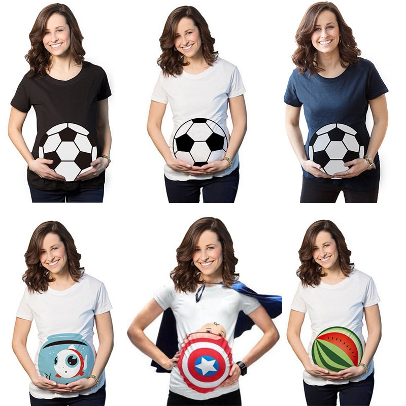 efbf1f29 Pregnant Maternity Mother Women Summer T-Shirts Funny Pregnancy Tshirt T- shirt Clothes Plus