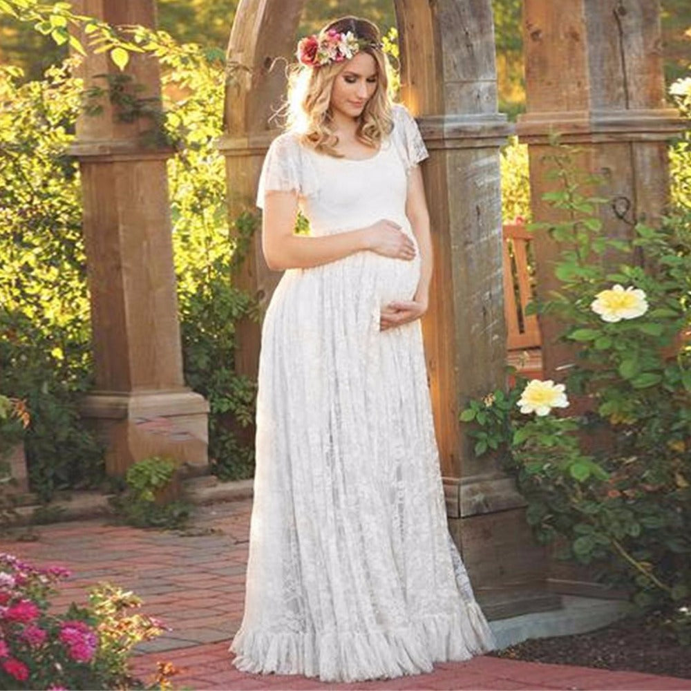 d1398e7af21 Women Dress Maternity Photography Props Lace Pregnancy Clothes ...