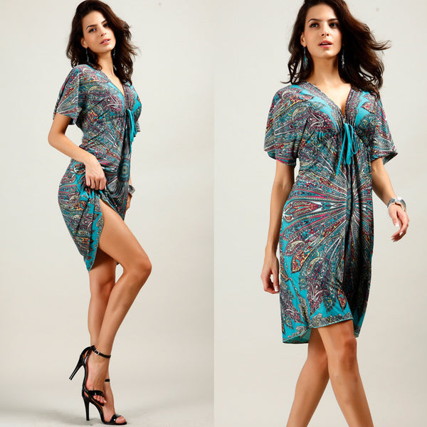 Summer Maternity Nursing Dress Printing V-neck Pregnant Clothing For Pregnant Women
