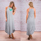 SUMMER PREGNANT WOMEN'S STRIPED LONG DRESS