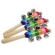 1 pcs Wooden Stick 10 Jingle Bells Rainbow Hand Shake Bell