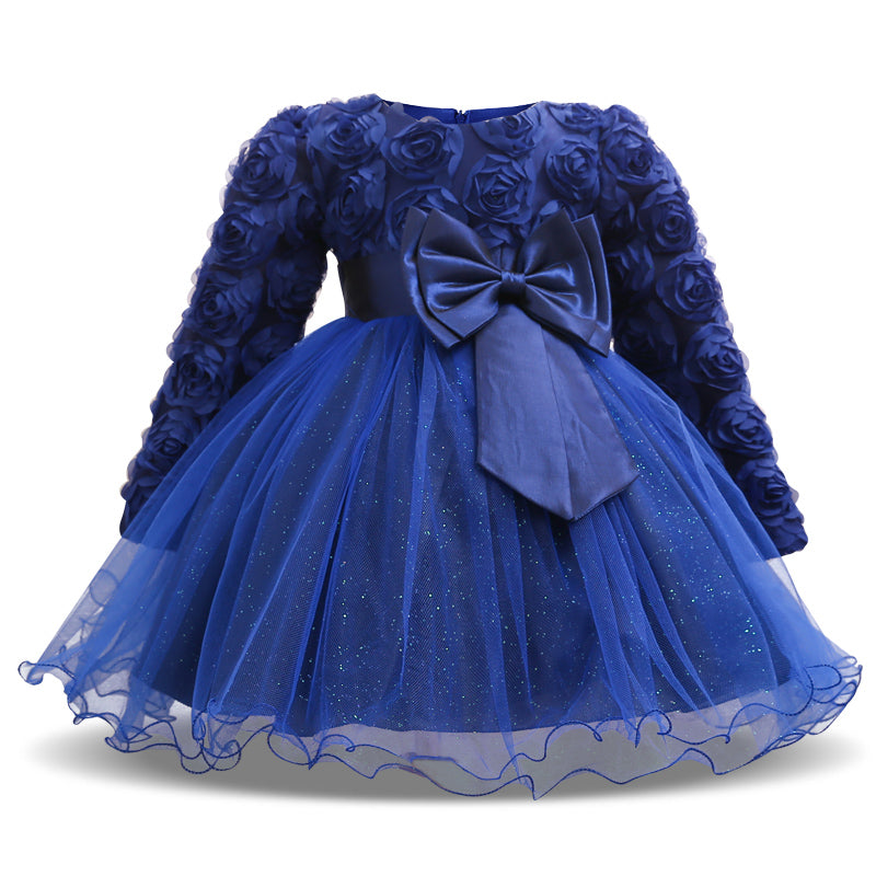 5463a1cecfd72 Winter Christmas Baby Girl 1 Year Birthday Little Dress Infant ...