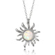 Opal Sunflower Pendant Necklace