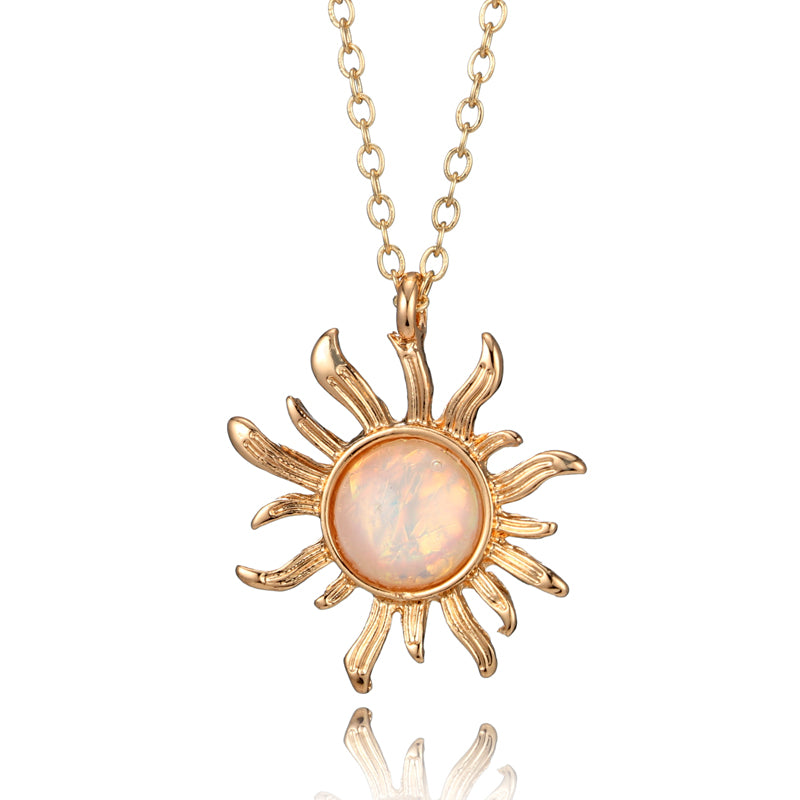 Opal sunflower pendant necklace style guide opal sunflower pendant necklace aloadofball Gallery