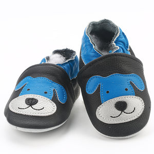 7604bfe6ab1a ... Skid-Proof Baby Shoes Soft Leather Baby Boys Girls Infant Shoes Slippers