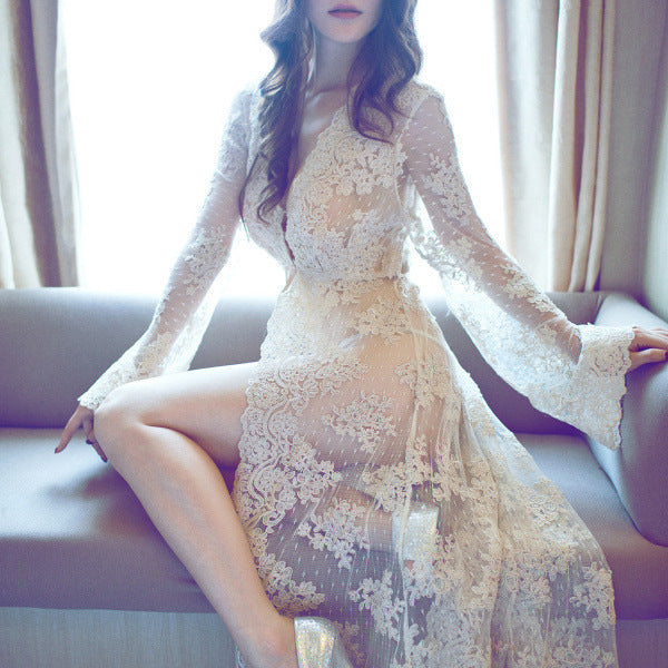 New Fancy Gown Maternity Photography Props Long Lace Dress  For Pregnant Women