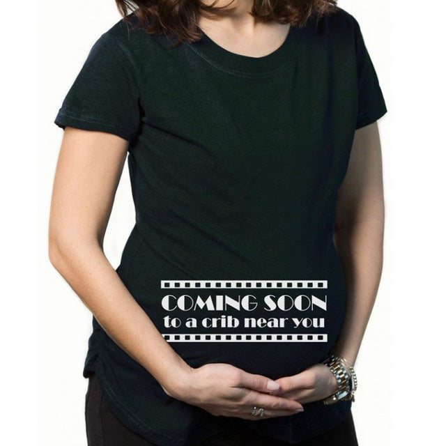 bf26175c20b04 Pregnancy Clothes Funny Maternity T Shirt for pregnant Women plus size3XL t- shirt
