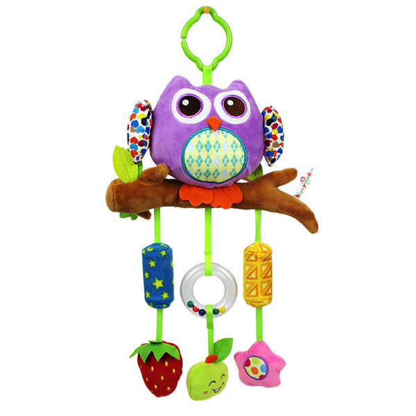Soft Cartoon Owl Rattle Baby Toys Stroller Mobile Toy Newborn Educational Toys