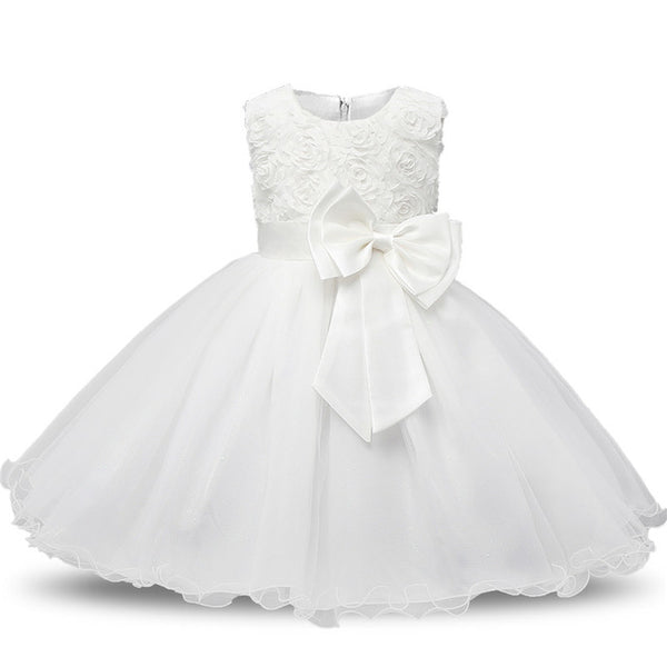 Winter Christmas Baby Girl 1 Year Birthday Little Dress Infant Christening Gowns