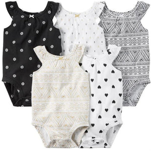 8f974303e ... New Summer Baby Girl Clothes Short Sleeve Cotton Printed Bodysuits