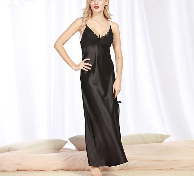 6c9a827a7 New Brand Long Women Summer Night Dress Plus Size Sexy Lace Nightwear