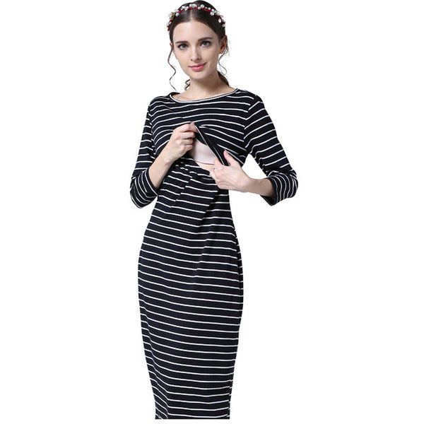 New Party  pregnancy clothes for Pregnant Women nursing Breastfeeding Dresses