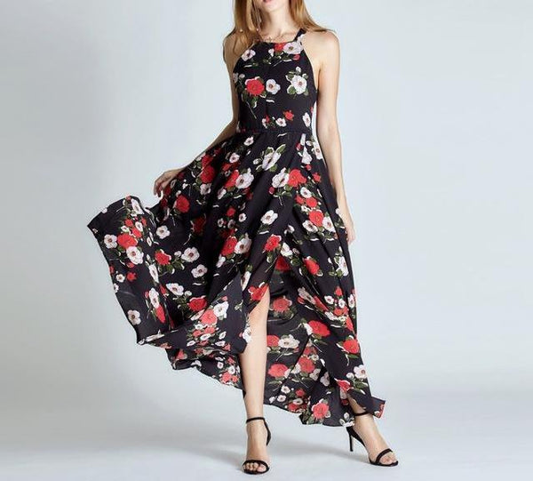 Sexy Chiffon Nursing Dress Floral Style - Feed Baby In Convenient
