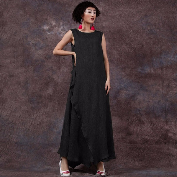 Plus Size Pregnant Women Long Dress Mother Casual Loose Summer Maternity Clothings Pregnancy Ankle-length A-Line