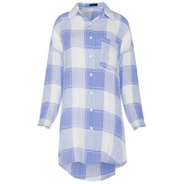 Pregnant Women Tops Maternity Clothings 2018 Retro Plaid Blouses Casual Loose Lapel Long Sleeve Shirts Pregnancy Clothes