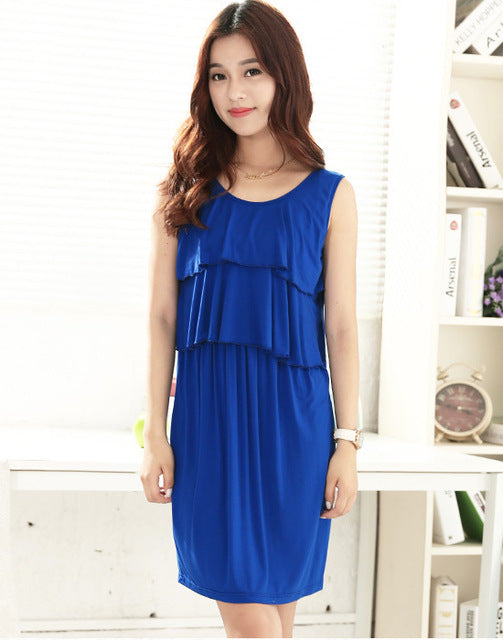 New Summer Maternity Soft Nursing Breastfeeding Dresses for Pregnant Women Nursing Clothes