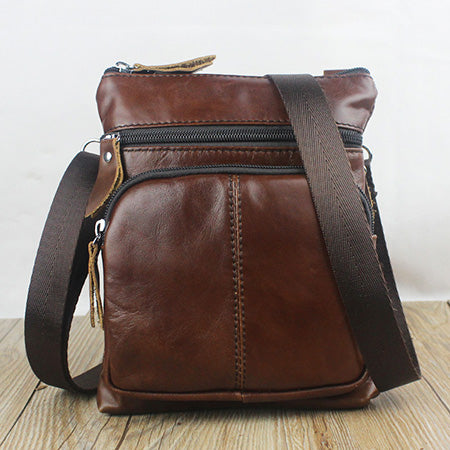 Genuine Leather bag male Men Bags Small Shoulder Crossbody bags Handbags casual Messenger Flap Men Leather bag